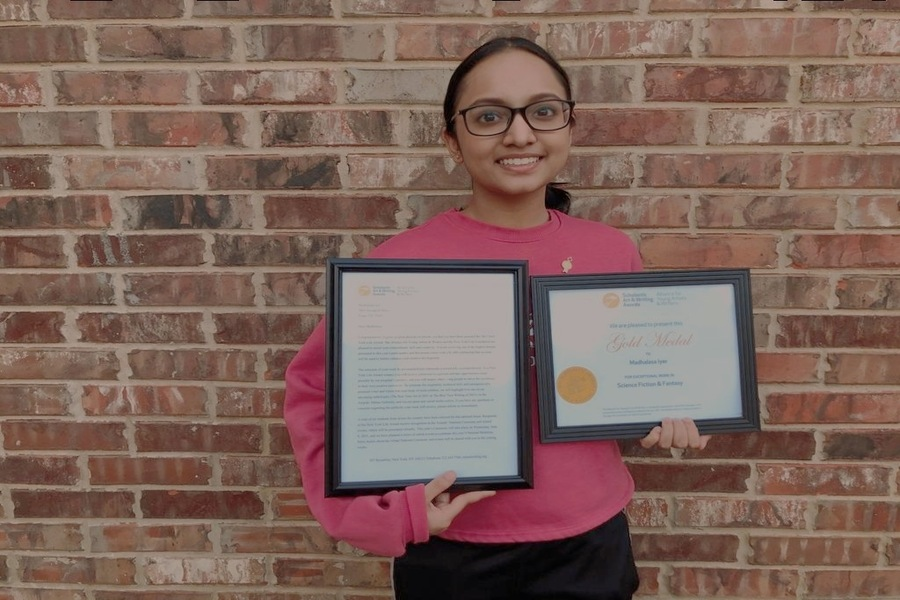 Though tough competition, sophomore Madhalasa Iyer soared high at the Scholastic Art and Writing Awards as her work