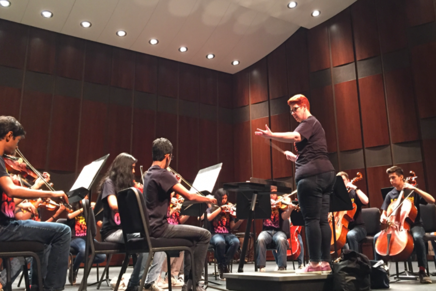Rather than going to a school to perform, the UIL orchestra competition was held entirely virtually this year where all orchestras received sweepstakes.