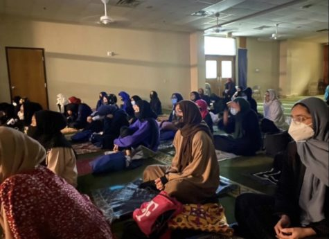 People of the Islamic Association of Collin County gather at the local mosque for prayer during the last week of Ramadan.
