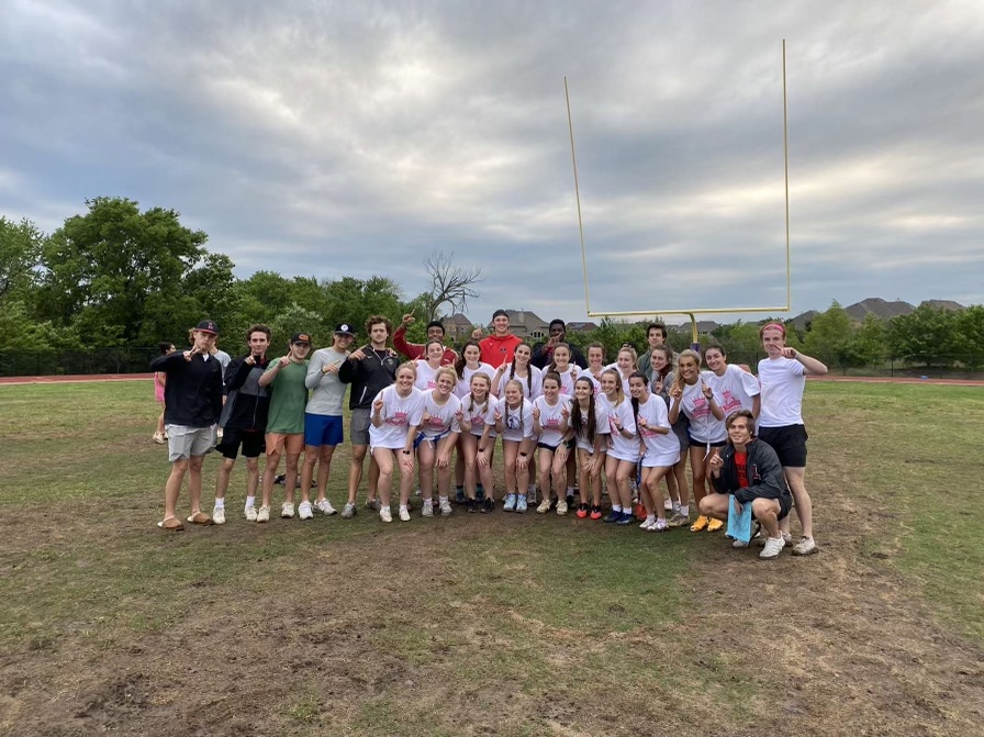 The senior girls powderpuff team takes on the district tournament against Heritage High School. They won 49-7 in their most recent game against the juniors.