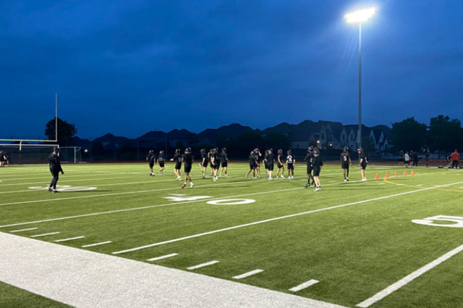 Taking the field before the sun rises, or after school, the football team is kicking off its 2021 season with spring practice.