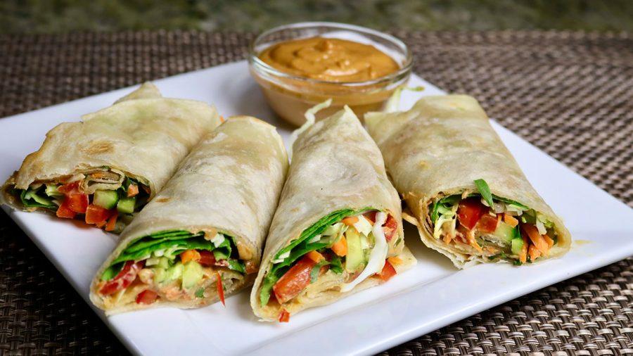 Vegetable Kathi Roll