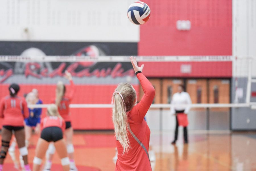 The Redhawks served up a win in a District 9-5A volleyball game against Heritage High School. The team looks to push on with three games left of their regular district season.