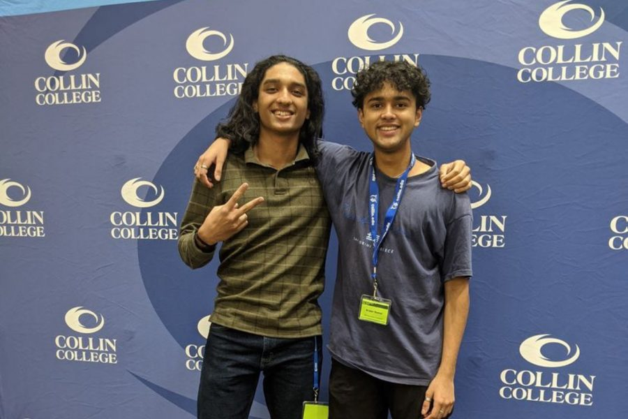 Senior Aryan Samal and junior Akash Pradeep competed in a hackathon alongisde many other high school students in hopes creating a solution to a problem through a piece of software. Through the 11-hour test of endurance, their team created a website that showcases an app that tracks the organic molecules that are present in compost bins.